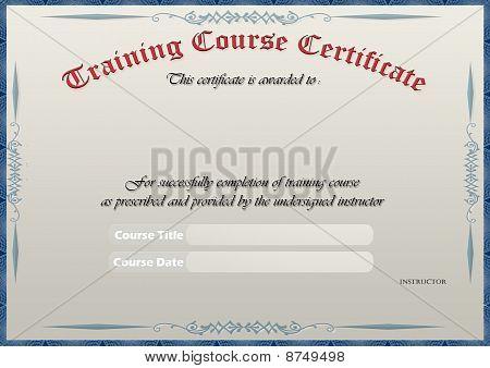 Elegant Training Course Certificate