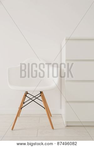 White Chair In Modern Design