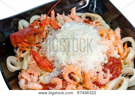 shrimps on plate