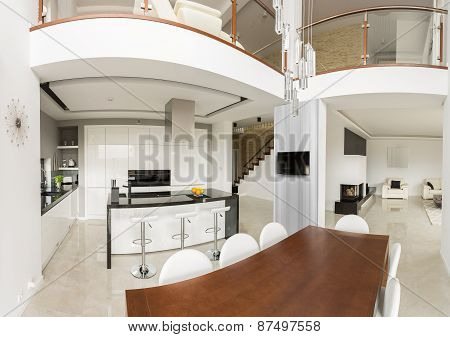 Spacious Detached House Interior