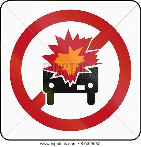 No Flammable Goods In Brunei