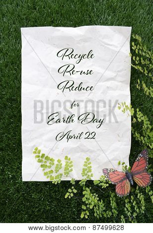 Earth Day, April 22, Concept Image