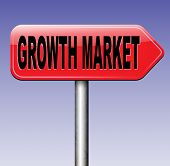 foto of economy  - growth market economy growing emerging economies in developing countries  - JPG