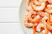 picture of tiger prawn  - the tasty prawns on plate - JPG
