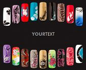 pic of nail paint  - Nail art handmade - JPG