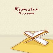 image of ramadan kareem  - Open Islamic Religious holy book Ramadan Kareem for Muslim - JPG