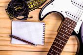 stock photo of sounding-rod  - electric guitar - JPG