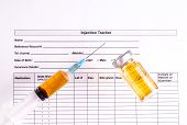 picture of medical injection  - Syringe Vials Injection Form  - JPG