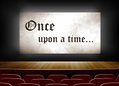 pic of cinema auditorium  - Cinema screen with once upon a time - JPG