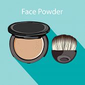 pic of face-powder  - face powder style flat - JPG