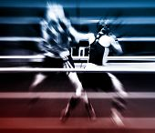 picture of boxing ring  - Two sportsmen boxing on a ring  - JPG