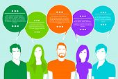 pic of chat  - People Group Chat Social Network Communication Icons Colorful Vector Illustration - JPG