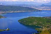 picture of annecy  - looking down on Lake Annecy in France - JPG