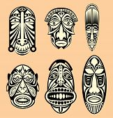 image of african mask  - African Masks - JPG
