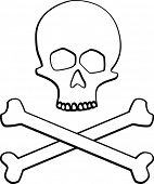 pic of skull cross bones  - skull and crossed bones - JPG