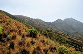 foto of mountain-range  - The mountain range of Sera and its sharp peak circulates the island of Fogo serving as the barrier for the highest free standing mountain found on the - JPG