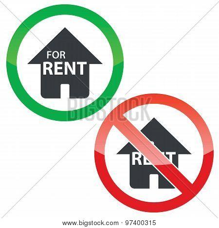 Rental permission signs set