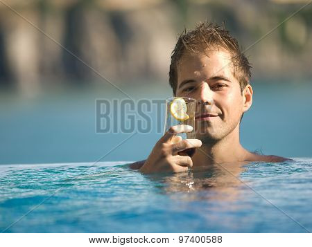 Man In Swimming Pool