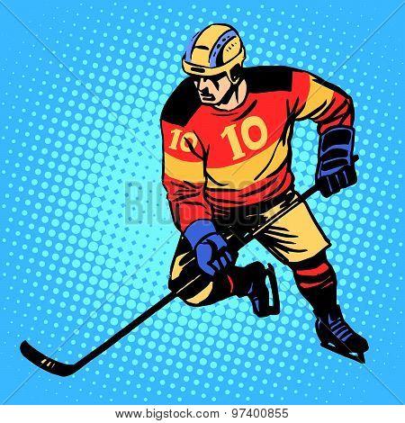 Hockey player number 10