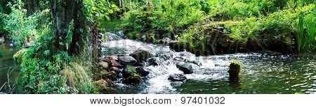 Panorama of the waterfall