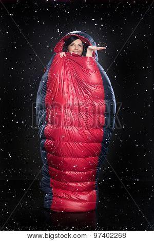 Woman In The Sleeping Bag