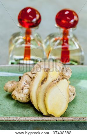Ginger Essential Oil- Natural Spas Ingredients .