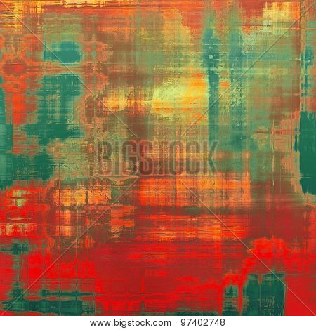 Rough vintage texture. With different color patterns: yellow (beige); brown; green; red (orange)