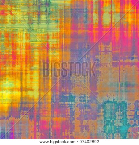 Retro background with grunge texture. With different color patterns: yellow (beige); purple (violet); green; blue; red (orange)