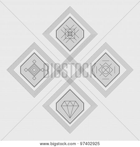 Set Of Geometric Hipster Shapes56377