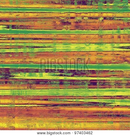 Art vintage background with space for text and different color patterns: yellow (beige); brown; purple (violet); green
