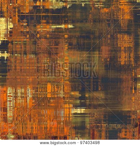 Grunge old-school texture, background for design. With different color patterns: yellow (beige); brown; green; black