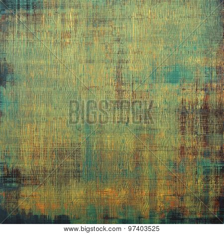 Grunge background with vintage and retro design elements. With different color patterns: yellow (beige); brown; green; blue