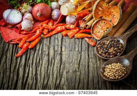 Thai Food Cooking Ingredients. - Spice Tast