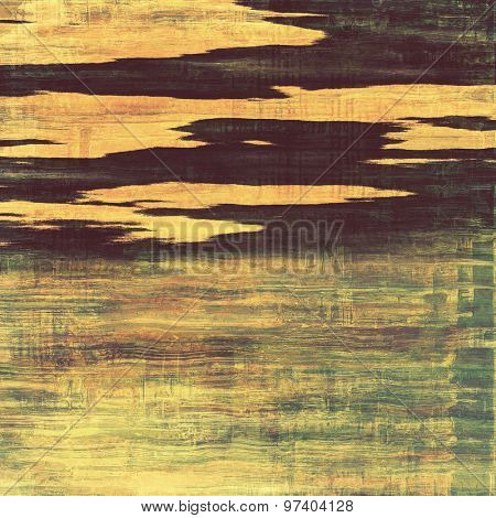 Weathered and distressed grunge background with different color patterns: yellow (beige); brown; green; black