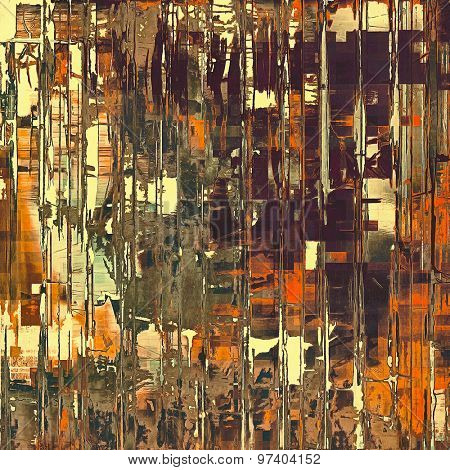 Old abstract grunge background for creative designed textures. With different color patterns: yellow (beige); brown; green; red (orange)