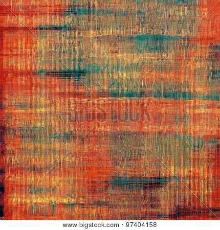 Grunge background with vintage and retro design elements. With different color patterns: yellow (beige); brown; green; red (orange)