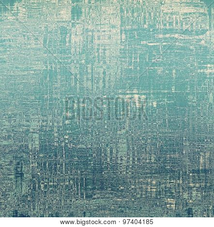 Weathered and distressed grunge background with different color patterns: green; blue; cyan; gray