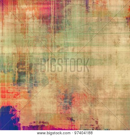 Old grunge textured background. With different color patterns: yellow (beige); green; blue; red (orange)