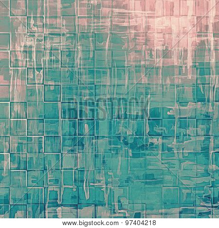 Abstract grunge textured background. With different color patterns: brown; blue; cyan; pink