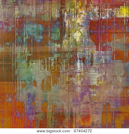 Antique grunge background with space for text or image. With different color patterns: brown; purple (violet); green; red (orange)