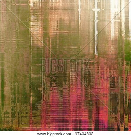 Abstract rough grunge background, colorful texture. With different color patterns: brown; green; pink; gray