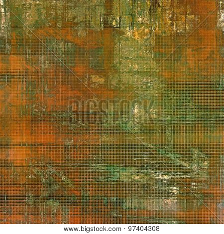 Grunge, vintage old background. With different color patterns: yellow (beige); brown; green; gray