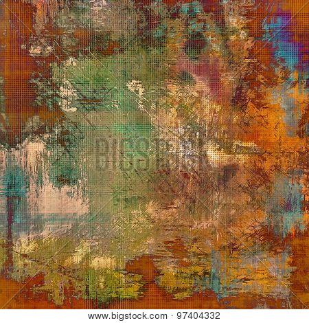 Abstract rough grunge background, colorful texture. With different color patterns: yellow (beige); brown; green; blue
