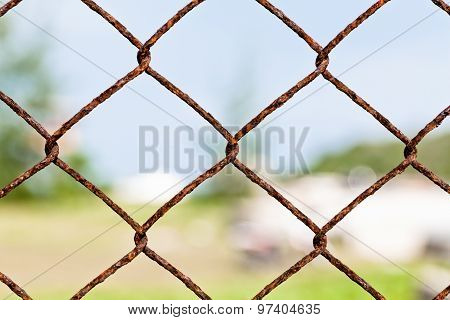 Chain Fence For Private Area .