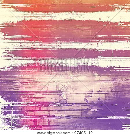 Old abstract grunge background, aged retro texture. With different color patterns: brown; purple (violet); red (orange); pink