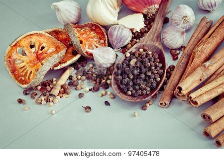 Thai food Cooking ingredients. - spice taste