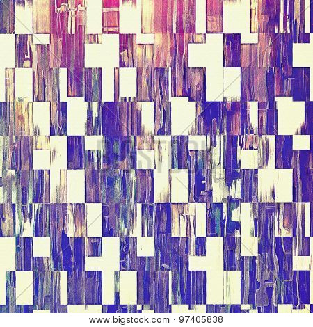 Vintage textured background. With different color patterns: brown; purple (violet); blue; pink