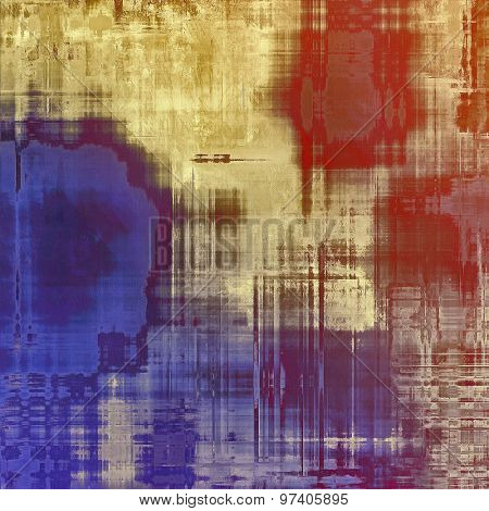 Abstract grunge background of old texture. With different color patterns: brown; purple (violet); blue; red (orange)