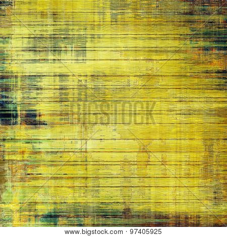 Antique vintage textured background. With different color patterns: yellow (beige); brown; green; blue