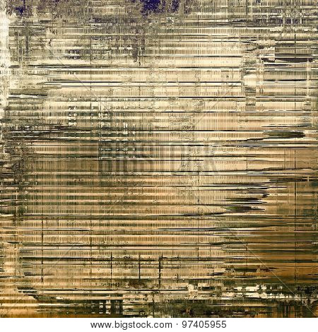 Weathered and distressed grunge background with different color patterns: yellow (beige); brown; gray; black